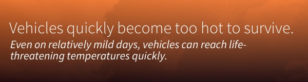 Even on relatively mild days, vehicles can reach life-threatening temperatures quickly.